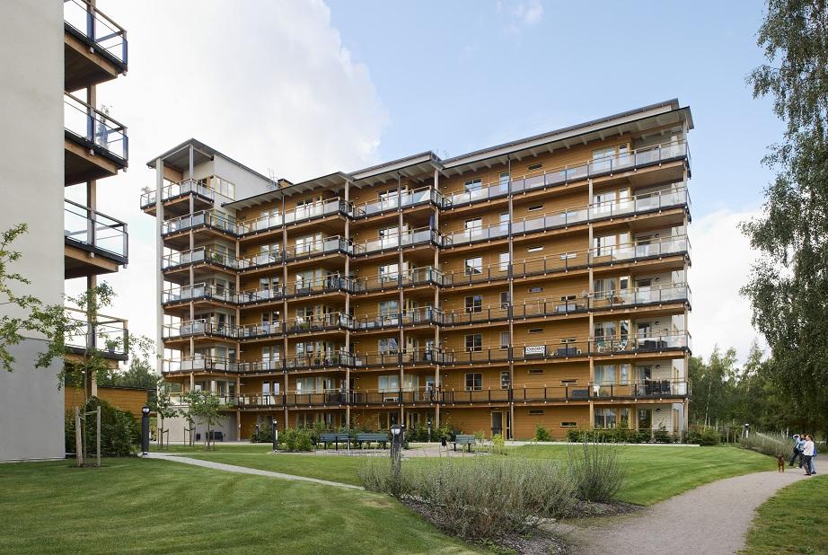 Växjö et ses immeubles en bois